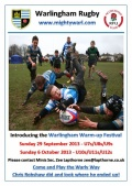 Warly Minis Warm Up Festival - SIGN UP NOW!
