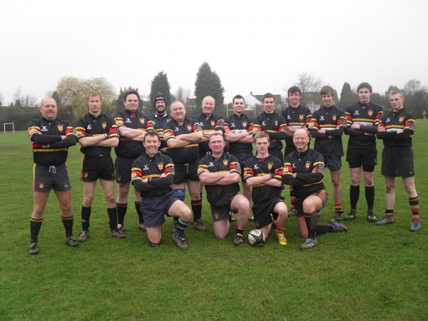 Back Row: Steve Bentley, Tom Swift, Jez Stanton, Louis Marsh, Steve Wynne, Cliff Smedley, Conor Morgan, Steve Sansom, Ryan Jones, Rory Head, Gareth Bryning, Kieron Dwayne.