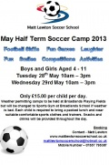 May Half Term Soccer Camp still