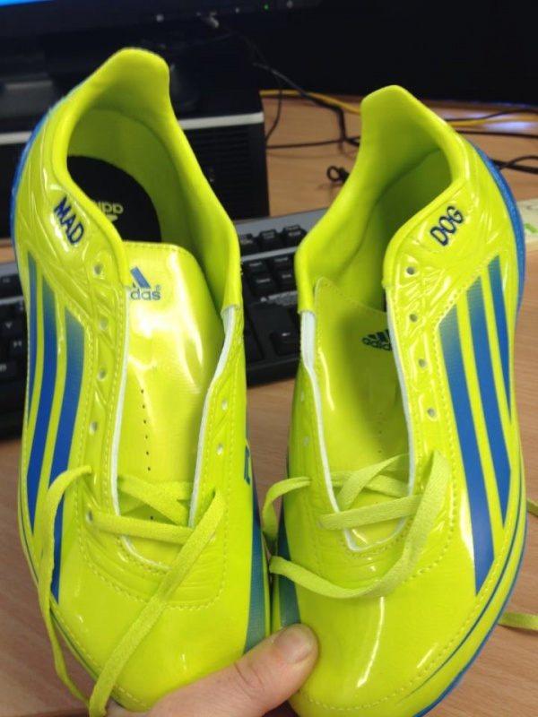 Opponents fear the Yellow Peril of Mad Dog's new boots! image