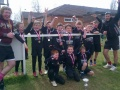 under 9's collecting their trophy for winning wellingborough festival 2013 still