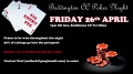Poker Night 29th April