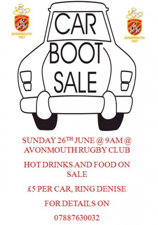 Car Boot Sale  Avonmouth Old Boys Rfc