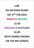 LIVE 6 Nations Rugby @ Hallhill image