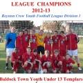 U13 Templars - 2012-13 Div 1 League Champions still