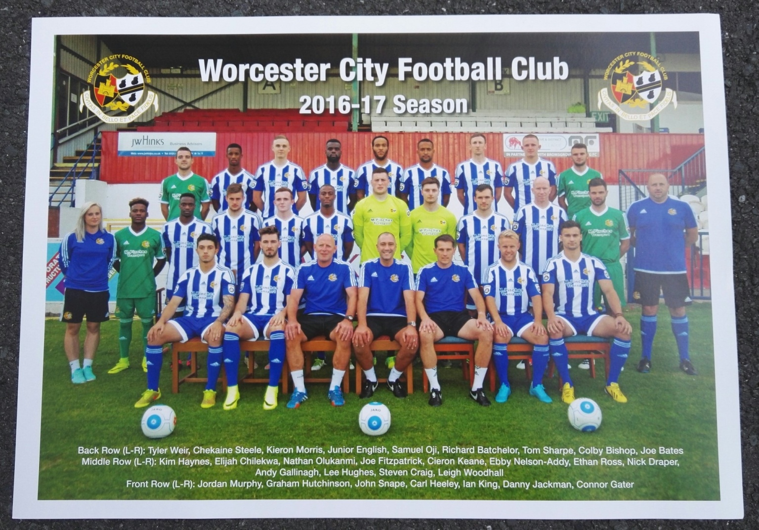 Image: 2016-17 First Team A3 Full Colour Print