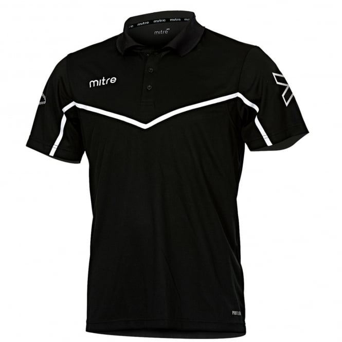 Image: Mitre Hyde United junior polo shirt black