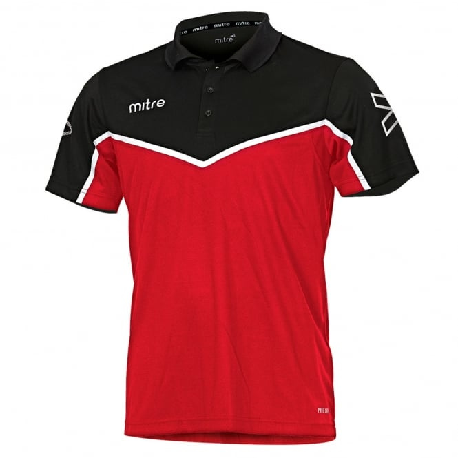 Image: Mitre Hyde United junior polo shirt red
