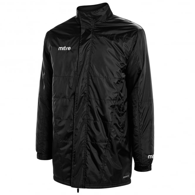 Image: Mitre Hyde United Delta bench jacket junior black