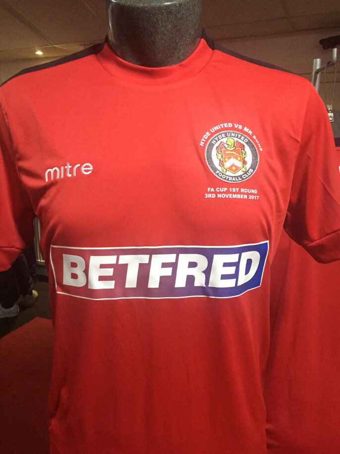 Image: Hyde United special edition MKDons shirt