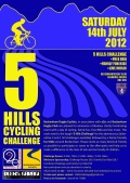 5 Hills Cycling Challange - Saturday 14th July 2012 image