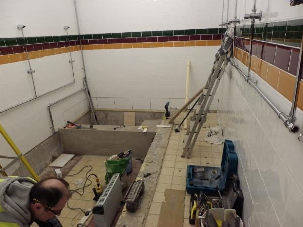 New shower area & communal bath