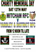Memorial Game 12th May 2012 Mitcham RFC V Yardley & District RFC image