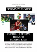 Tommy Bowe is coming to Cumnock Rugby Club image