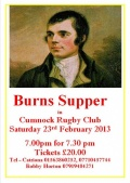 Cumnock RFC Burns Supper image