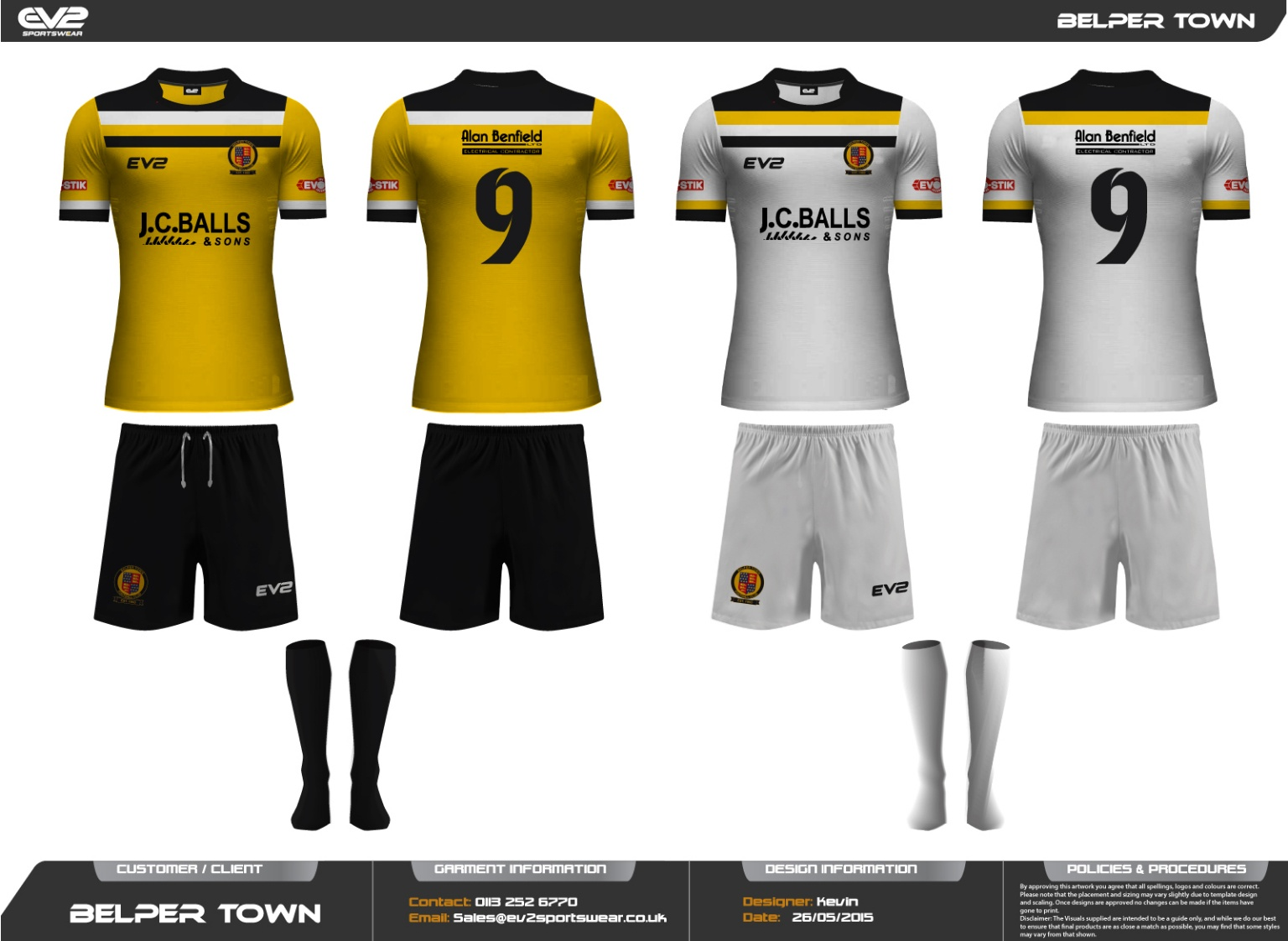 5a1e1e01 New playing kits unveiled - News - First Team - Belper Town FC