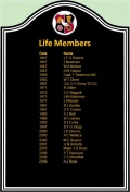 Life Members Club Honours - Life Members