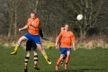 Alnmouths own 'big man' wins the header.