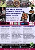 The Milton Keynes Rugby 7s, Family Fun Day & All Day Hobgoblin Music Festival on Sat 22nd June
