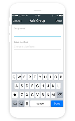 Adding a group in the Manager app