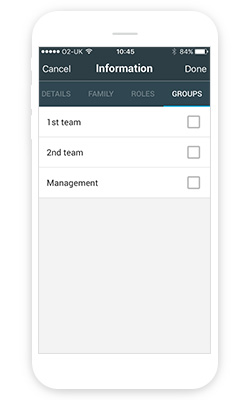 Adding a member to a group on the Manager app