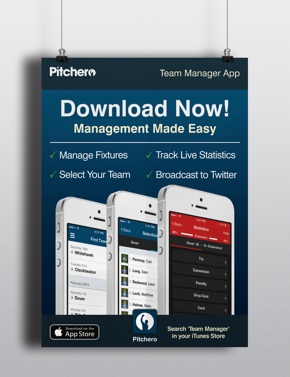 Team Manager App Poster