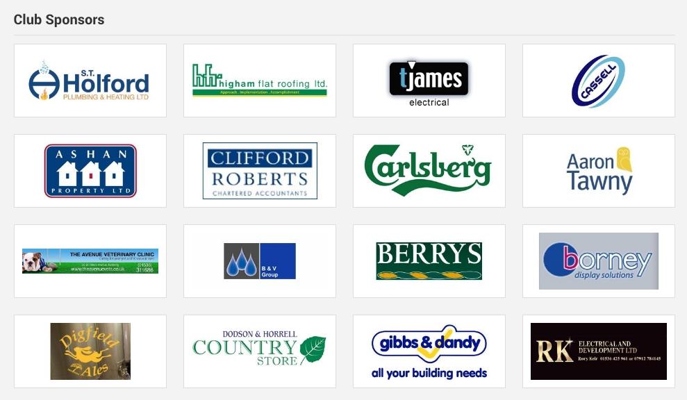 Sponsors of a website
