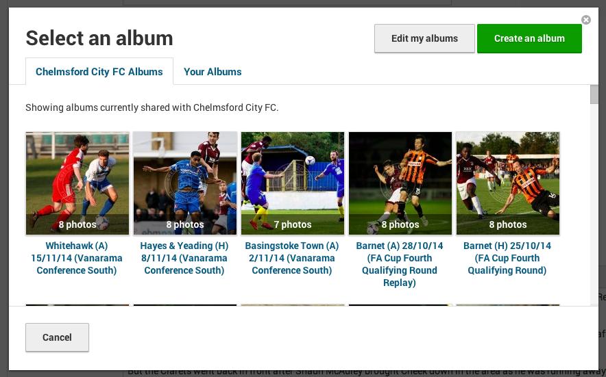 Image: Update - Match Report Album