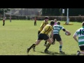 Jamie Peters try at Penicuik sevens still
