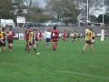 Llangwm's Andrew Brock's try v Tenby 30 Oct 2010. still