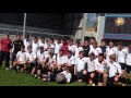 U16's celebrating Devon Shield win still