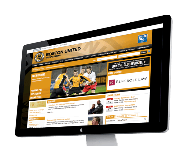 Example Club Homepage