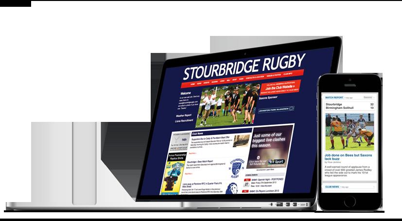 Example club homepage