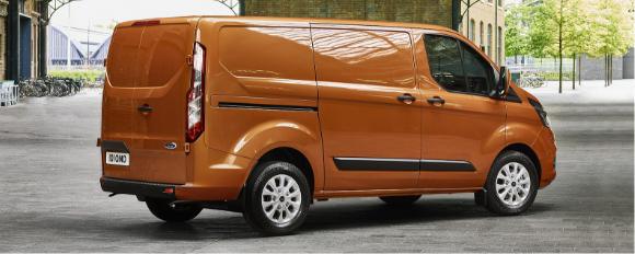 Medium sized orange van