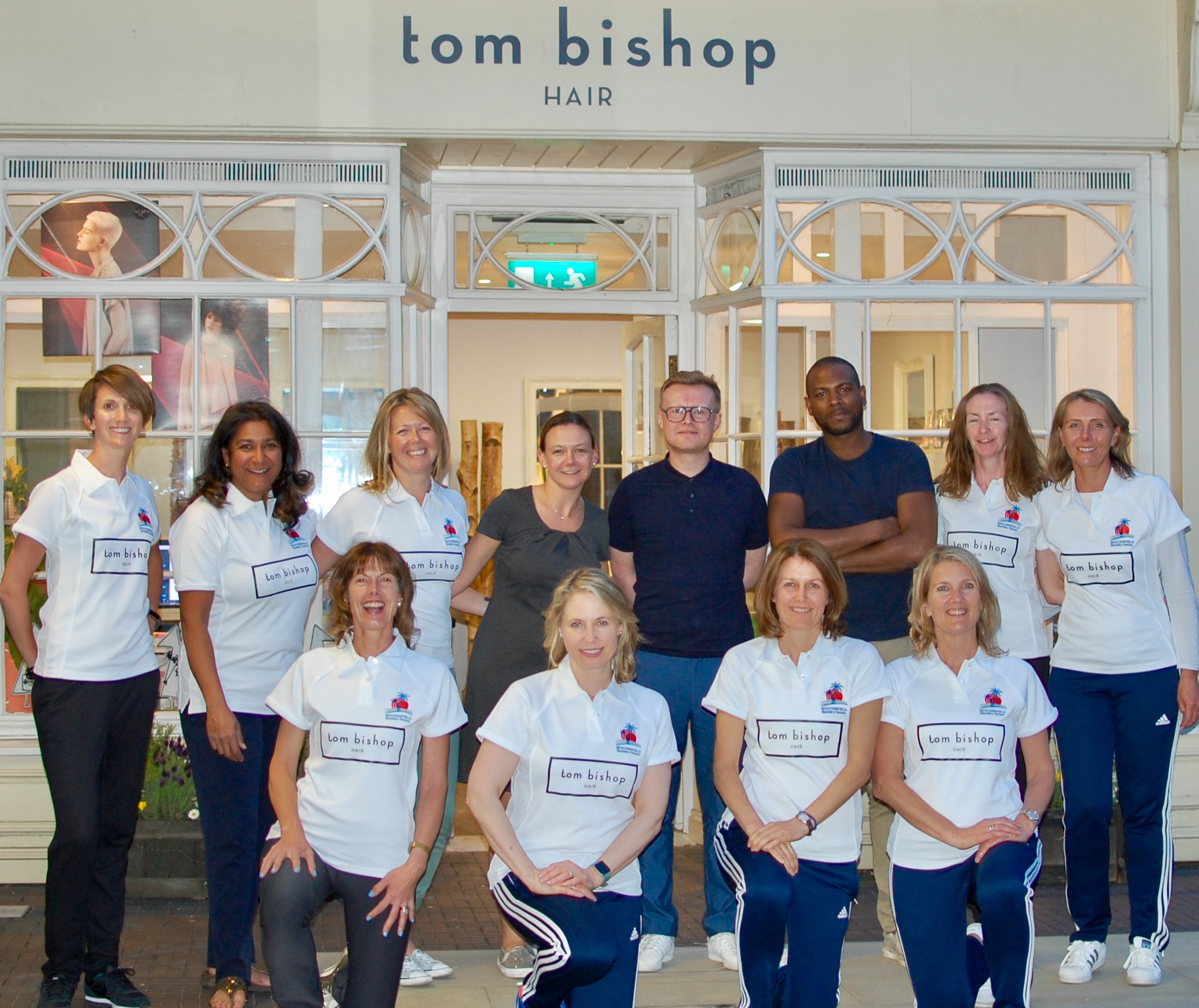 Wednesday night's champagne launch at sponsor Tom Bishop Hair