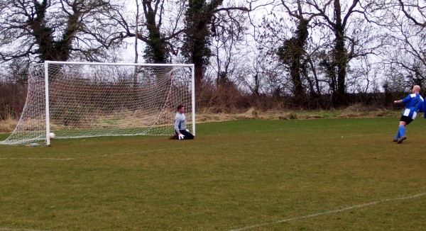 Pete Taylor slots in yet another penalty...