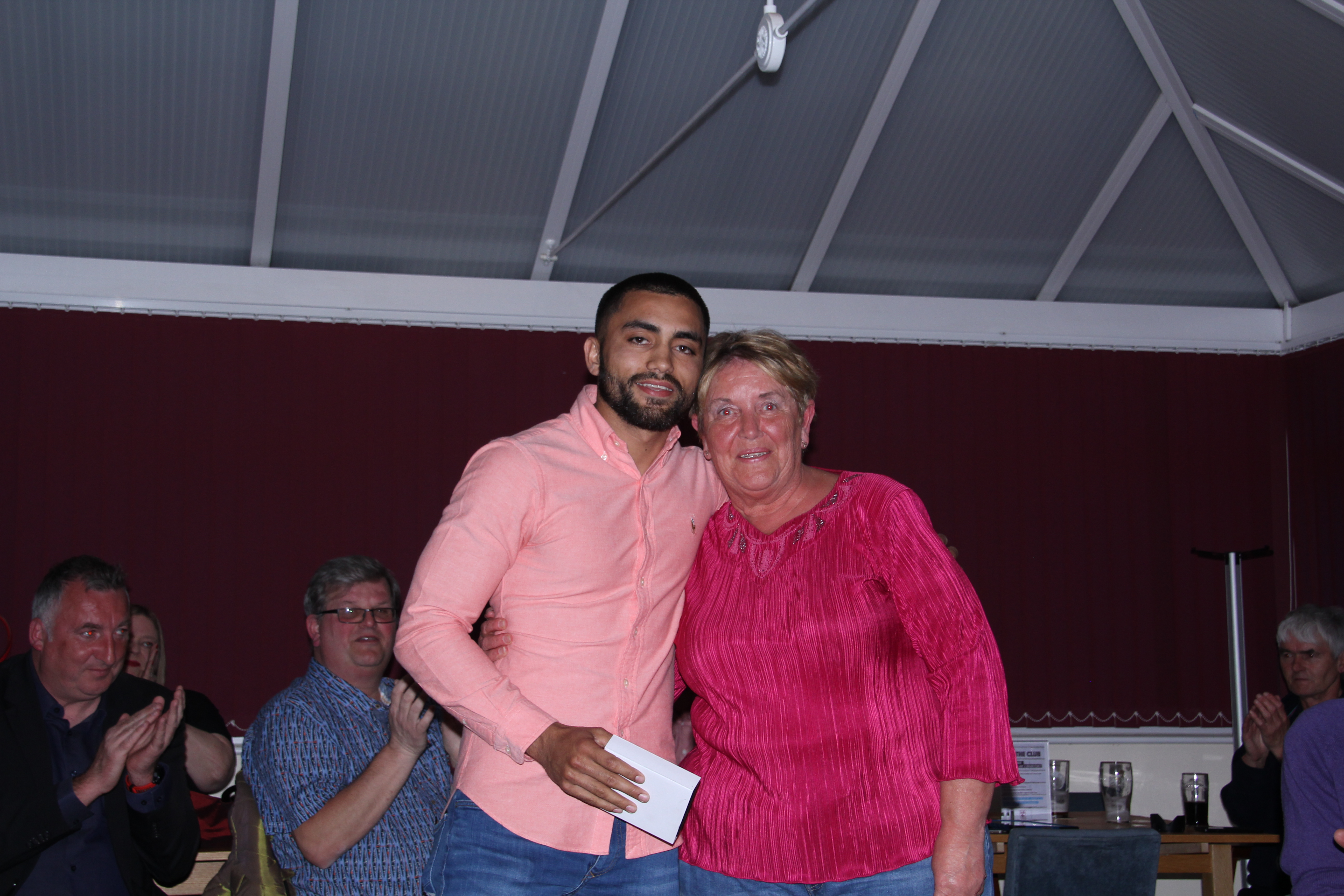 Players Player of the Year Daniel Naidole presented by Christine Pettinger