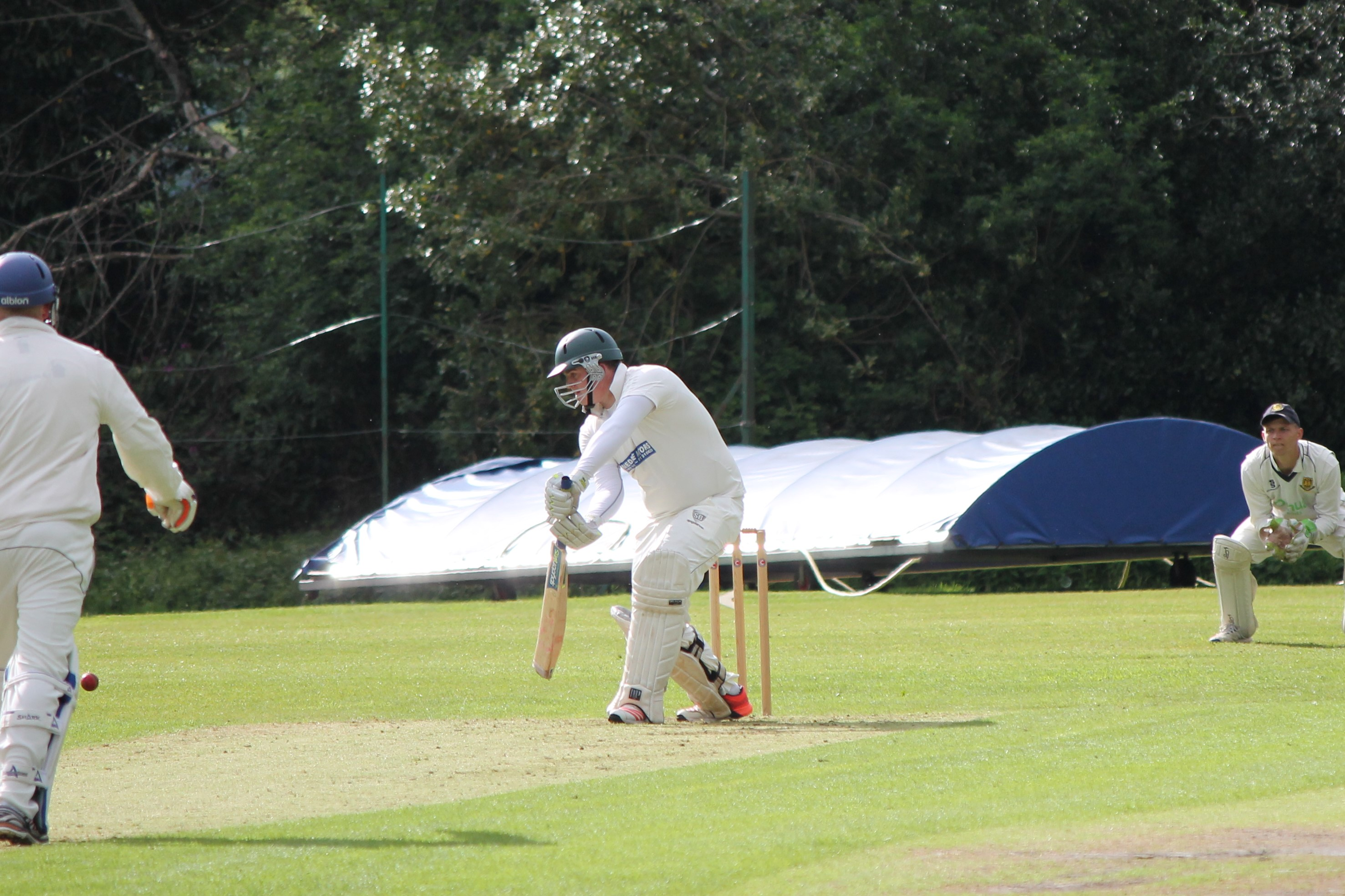 Sam Waterhouse on his way to a not out against Leek.