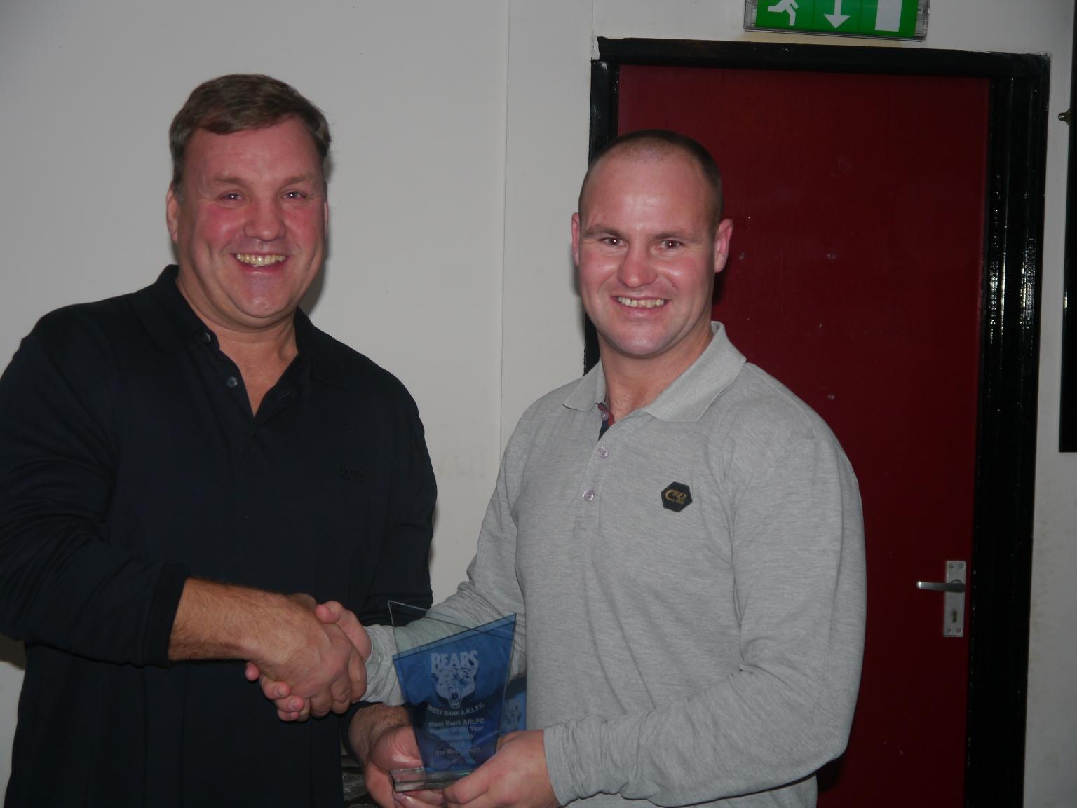 Player of the Year Runner Up - Ste McDermott